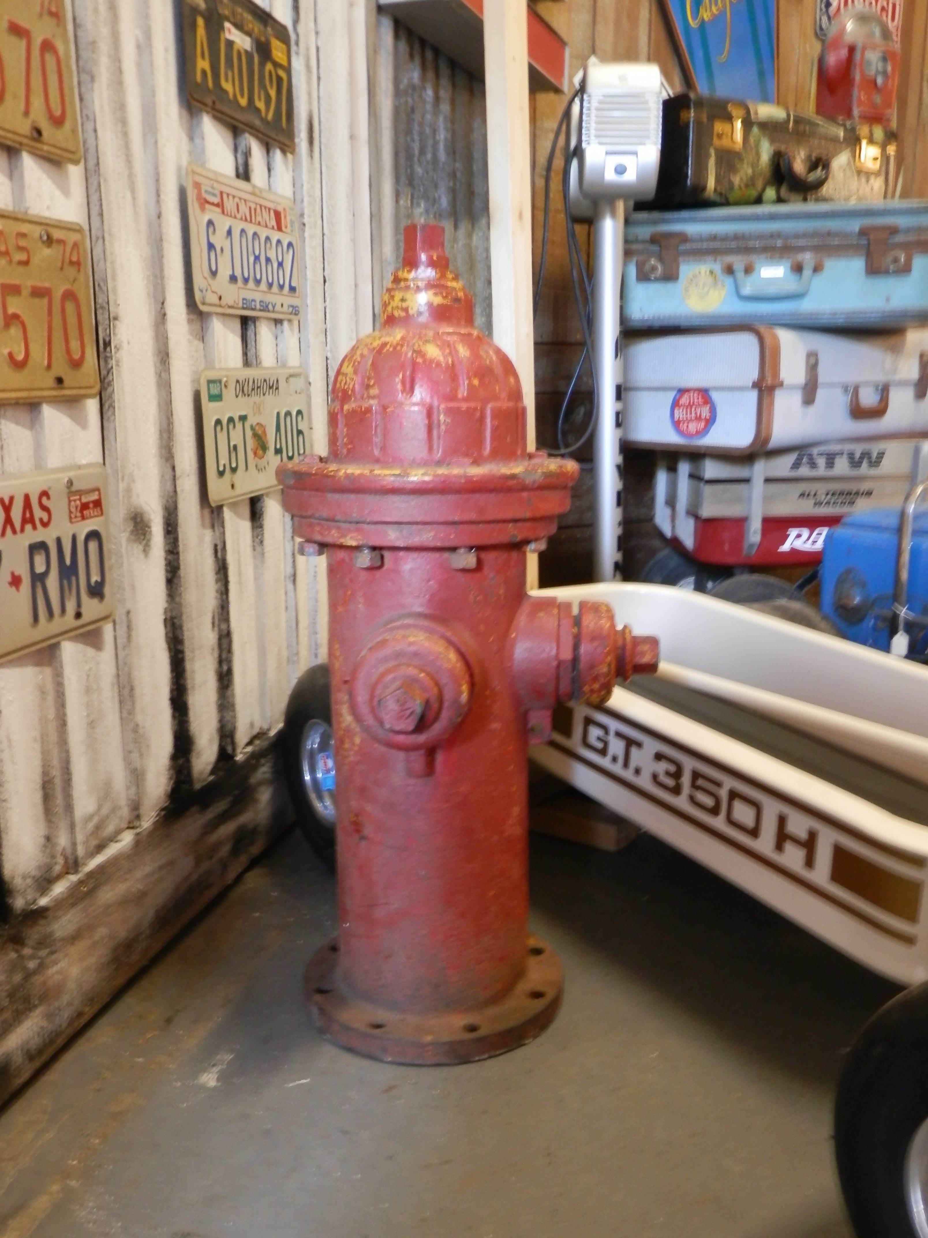 USA red fire hydrant