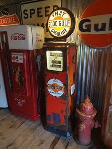 1960's Gulf Gas Pump